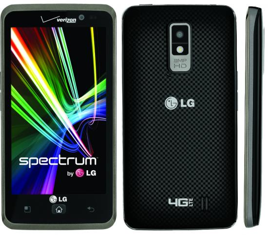 lg spectrum Verizon announces the LG Spectrum, LTE device with 4.5 inch HD720p display