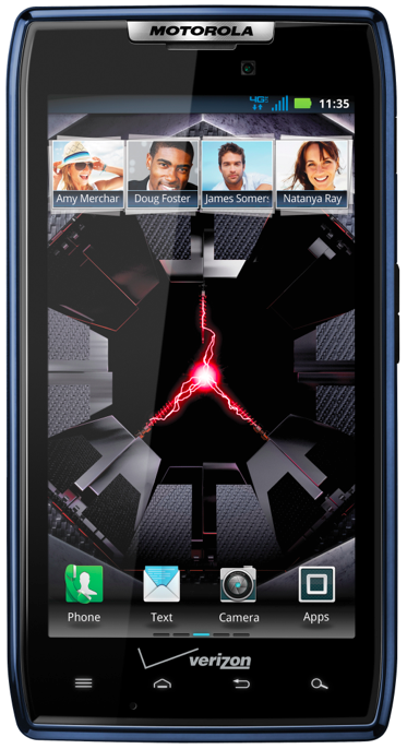 DroidRazr blue Verizon launches a blue Motorola Droid RAZR, available now in stores