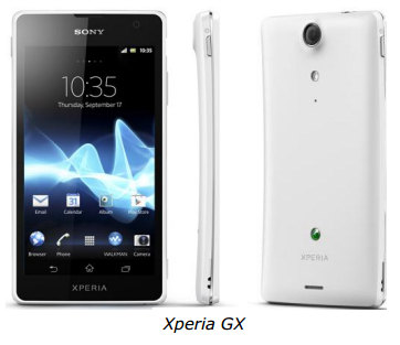 Xperia GX Sony Xperia GX and SX launching in Japan, showcased in videos