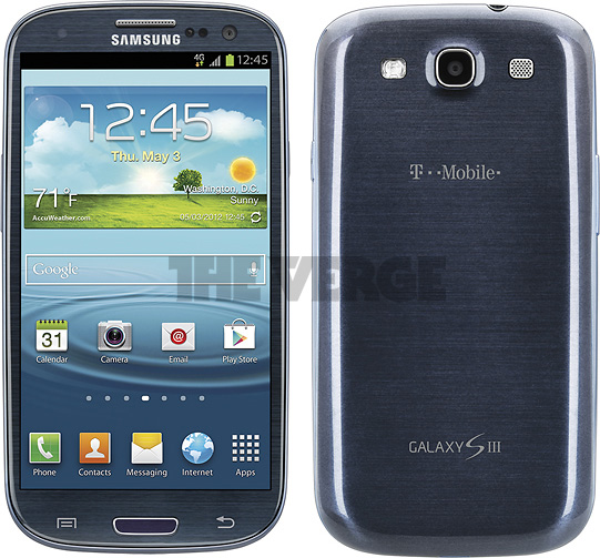 T mobiles Samsung Galaxy S3 photos surface