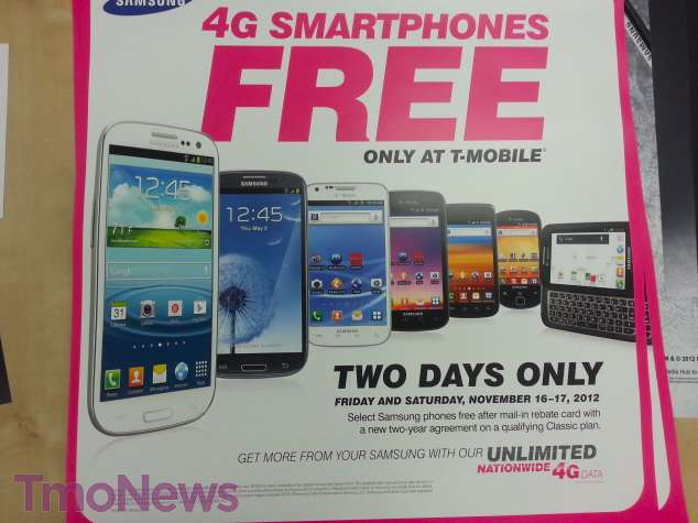 Screen Shot 2012 11 08 at 1.22.11 PMwtmk T Mobile Holding Two Day Samsung Sale On November 16th, 17th