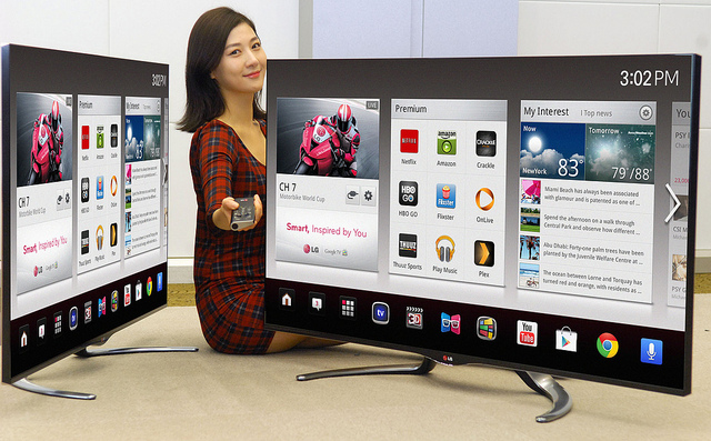 LG Google TV 2013 girl sitting LG announces new Google TV sets for CES 2013, looks to be a big step up