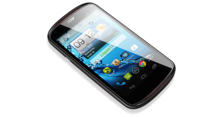acer liquid e1 Acer introduces their 4.5 inch Liquid E1 smartphone