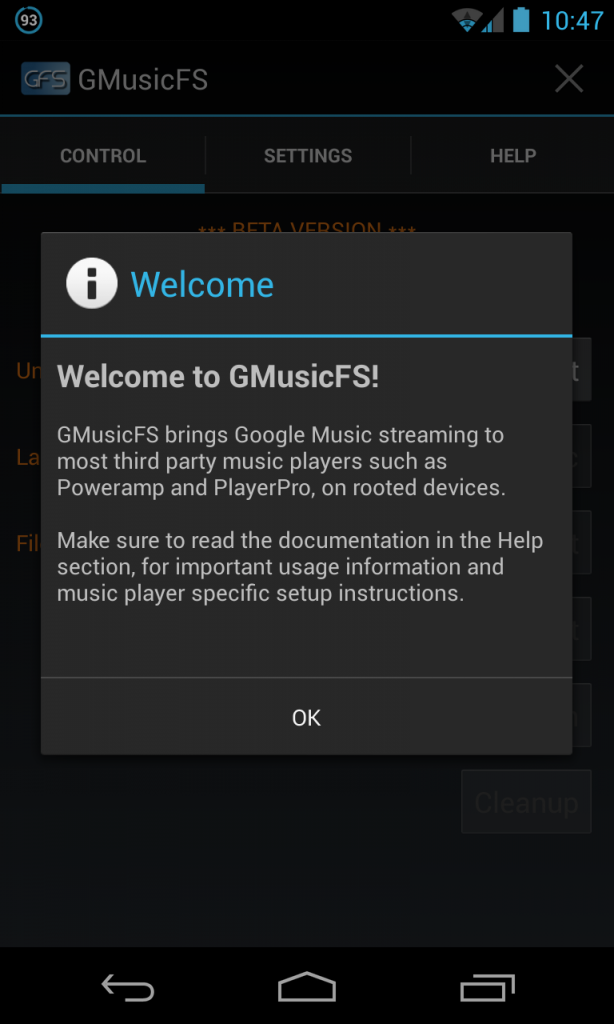 gmusic Screenshot 614x1024 [New App] GMusicFS Beta imports your tunes from Google Music into any media player